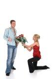 Amor de la tarjeta del día de San Valentín, oferta Fotos de archivo