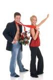 Amor de la tarjeta del día de San Valentín, oferta Imagenes de archivo