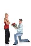 Amor de la tarjeta del día de San Valentín, oferta Fotografía de archivo libre de regalías