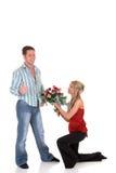 Amor de la tarjeta del día de San Valentín, oferta Foto de archivo libre de regalías