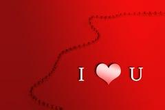 Amor de la tarjeta del día de San Valentín s Day/I usted stock de ilustración