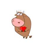Amor de la vaca Fotografía de archivo libre de regalías