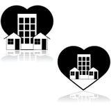 Amor de la vecindad ilustración del vector