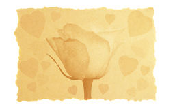 Amor de la vendimia y tarjeta de la tarjeta del día de San Valentín. Fotos de archivo libres de regalías