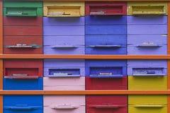 Amor de las abejas colorido Imagen de archivo