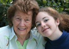 Amor de las abuelas Imágenes de archivo libres de regalías