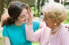 Amor de las abuelas Foto de archivo libre de regalías