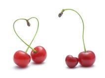 Amor de las cerezas Foto de archivo