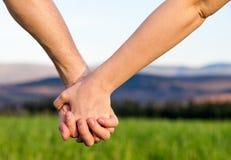 Amor de las manos Imagen de archivo libre de regalías