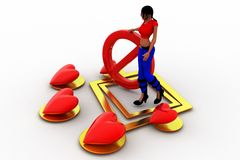 amor de las mujeres 3d - párelo concepto Imagen de archivo
