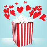 Amor de las palomitas Imágenes de archivo libres de regalías