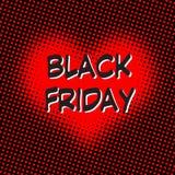 Amor de las ventas de Black Friday Foto de archivo