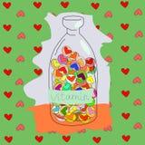 Amor de las vitaminas Imagen de archivo