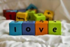 Amor de los bloques de los niños Fotografía de archivo libre de regalías
