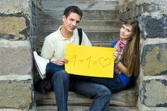 Amor de los estudiantes Imagen de archivo libre de regalías