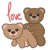 Amor de los osos Foto de archivo