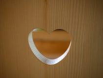 Amor de madeira Imagens de Stock