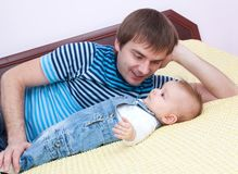 Amor de pai Fotos de Stock