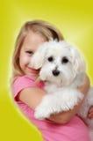 Amor de perrito que brilla intensamente 2 imagenes de archivo