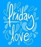 Amor de viernes Fotografía de archivo libre de regalías