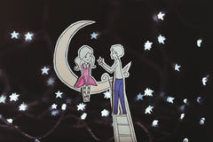 Amor debajo de las estrellas Imagen de archivo