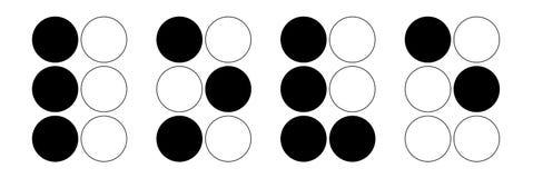 Amor del alfabeto de Braille foto de archivo