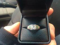 Amor del anillo de compromiso para siempre Imagen de archivo
