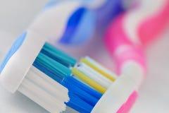 Amor del cepillo de dientes Fotografía de archivo