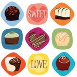 Amor del chocolate Foto de archivo libre de regalías