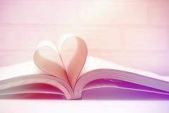 Amor del concepto del libro del corazón Imagen de archivo libre de regalías