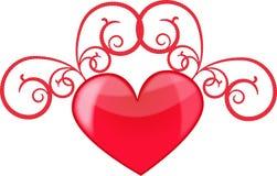 Amor del corazón Foto de archivo libre de regalías