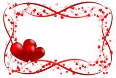 Amor del corazón del alcance Imagenes de archivo