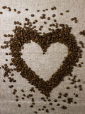 Amor del corazón del café Fotos de archivo