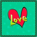 Amor del corazón del día de tarjetas del día de San Valentín Imágenes de archivo libres de regalías