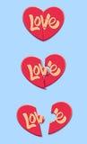 Amor del corazón del rompecabezas Fotos de archivo