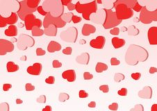 Amor del corazón en fondo rosado stock de ilustración