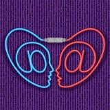 Amor del Cyber. Datación del Internet. (vector, CMYK) libre illustration