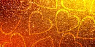Amor del día de San Valentín del corazón del fondo de las tarjetas del día de San Valentín del brillo fotografía de archivo