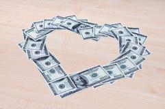 Amor del dinero Fotos de archivo libres de regalías