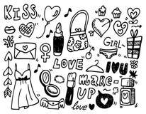 Amor del Doodle Foto de archivo libre de regalías