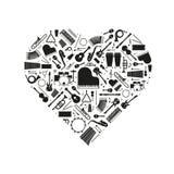 Amor del ejemplo del vector del concepto de la música stock de ilustración