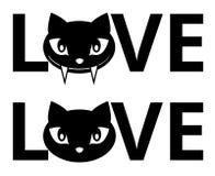 Amor del gato Foto de archivo