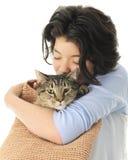 Amor del gato en el bolso Imagen de archivo