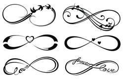 Amor del infinito, para siempre símbolo Foto de archivo libre de regalías