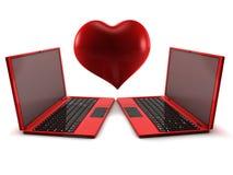 Amor del Internet Foto de archivo libre de regalías