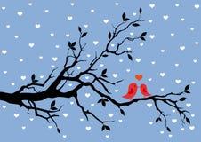 Amor del invierno stock de ilustración