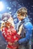 Amor del invierno fotos de archivo