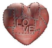 Amor del metal Imágenes de archivo libres de regalías