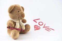 Amor del oso de peluche Imagen de archivo libre de regalías