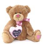 Amor del oso del peluche Imagenes de archivo